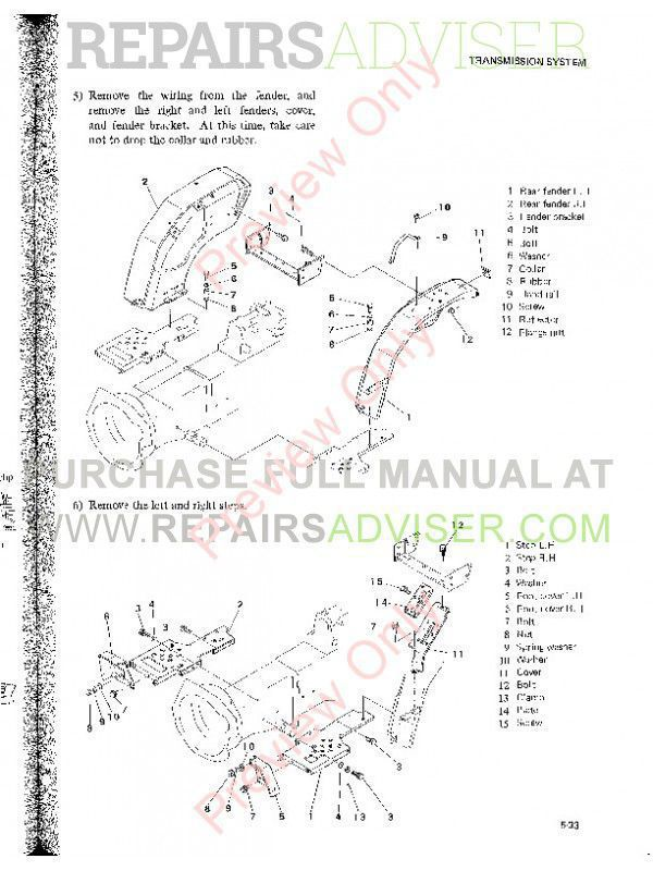 Mitsubishi MT160/160D MT180/180D MT180H/180HD Tractors