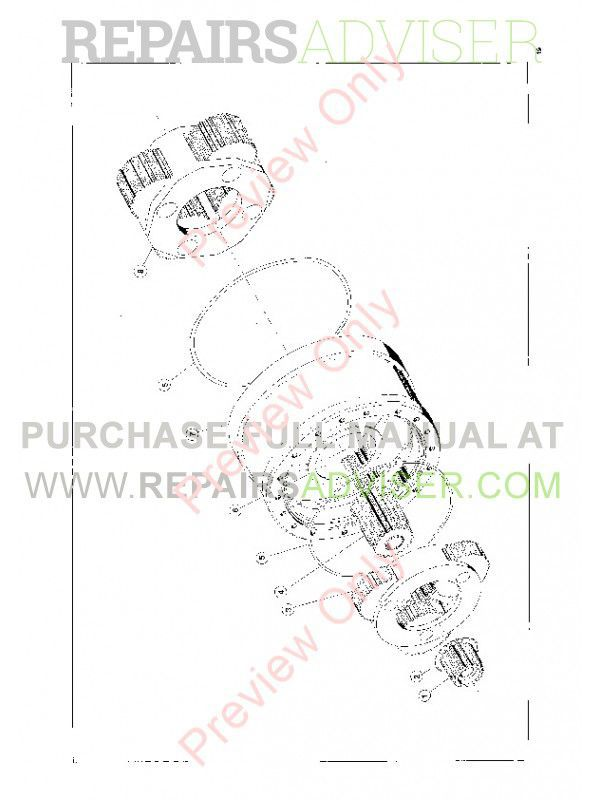 John Deere Funk P40 Planetary Service And Part Assembly