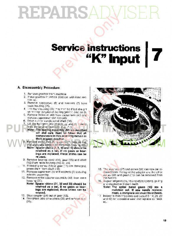 John Deere Funk P200 Planetary Service, Parts Assembly Manual