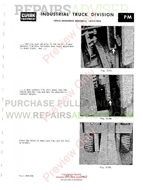 Clark C500 355 PMA-273 10th Rev. Planned Adjustment Procedures