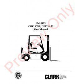 Clark EC500 60/80B Lift Trucks SM-604 Service Manual PDF