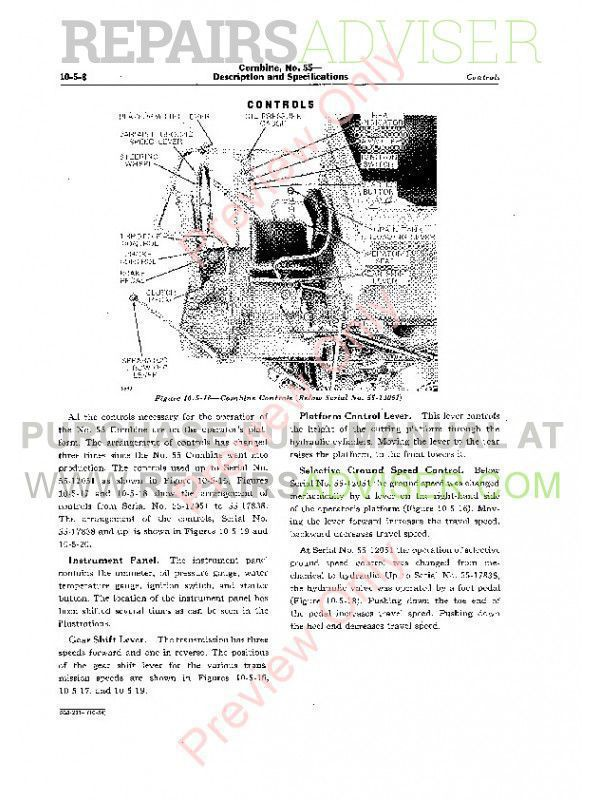 Download John Deere No. 55 Combine SM2014 PDF Manual
