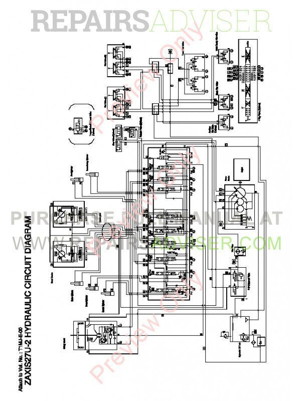 Hitachi Zaxis 27U-2 30U-2 35U-2 Excavator Technical Manual