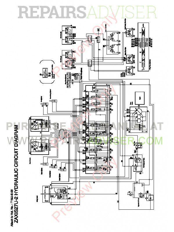Hitachi Zaxis 27U-2 30U-2 35U-2 Excavator Technical Manual