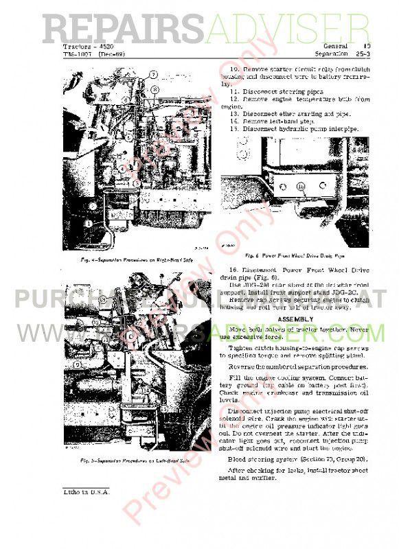 John Deere 4520 Tractors Technical Manual TM-1007 PDF Download