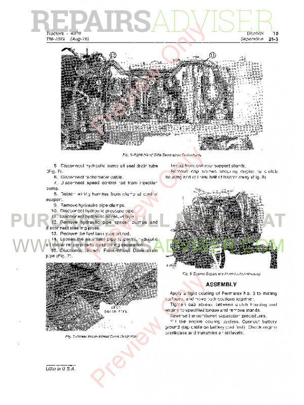 John Deere 4320 Tractor Technical Manual TM-1029 PDF Download