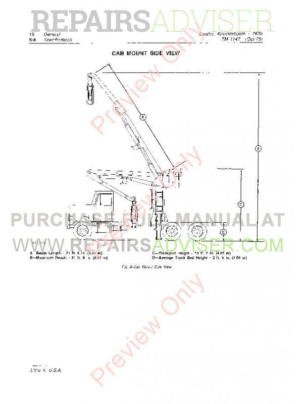 John Deere 7630 Knuckleboom Loader Technical Manual TM