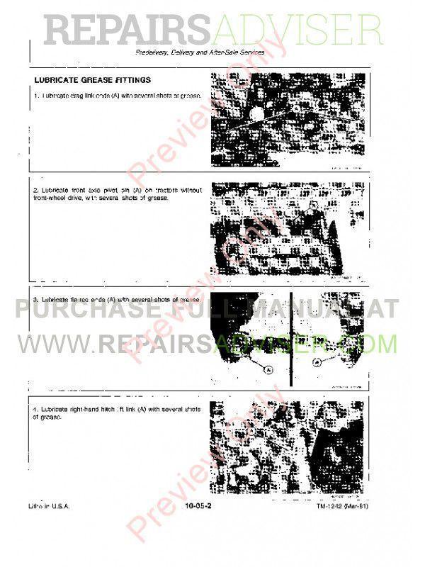 John Deere 650 & 750 Tractors Technical Manual TM-1242 PDF