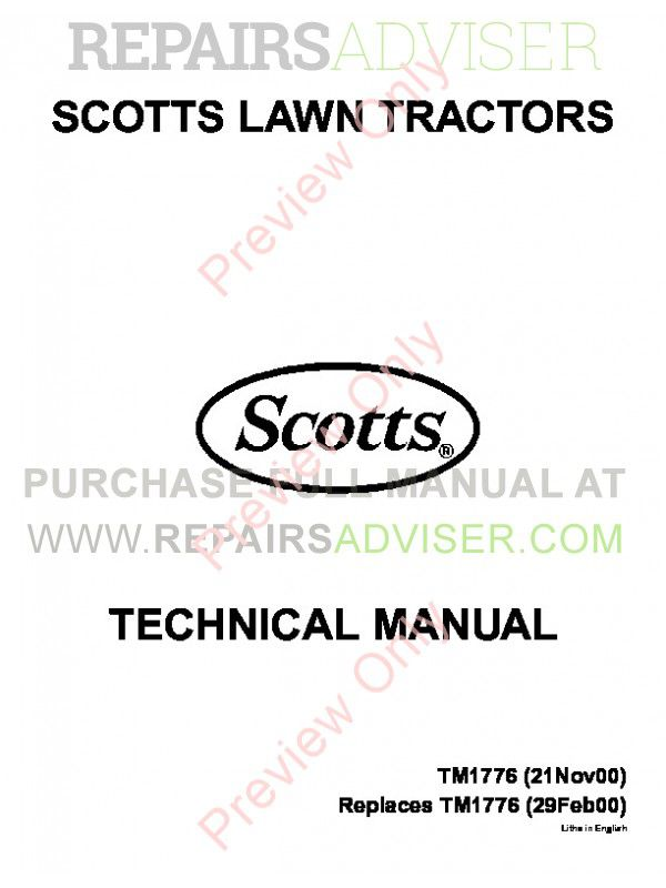 John Deere S1642-S2546 Tractors Technical Manual TM-1776 PDF