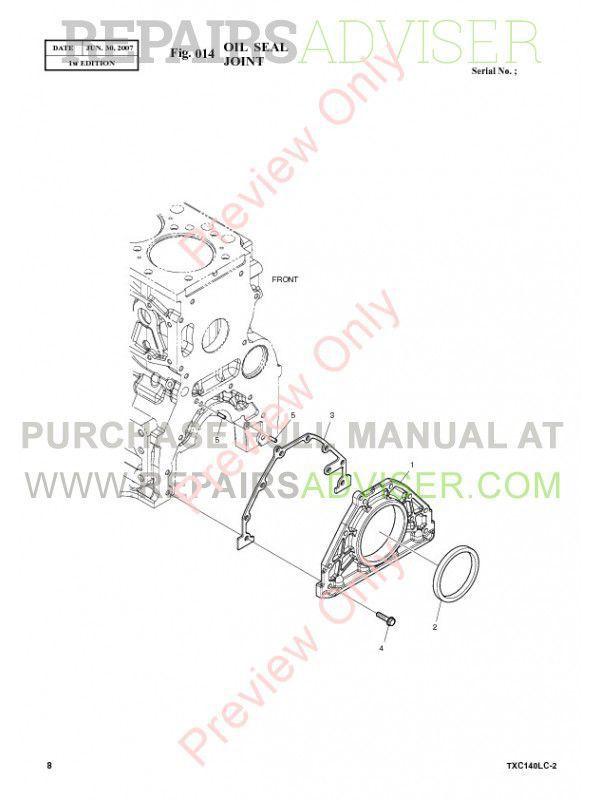 Terex TXС 140LC-2 Heavy Hydraulic Excavator Parts Manual