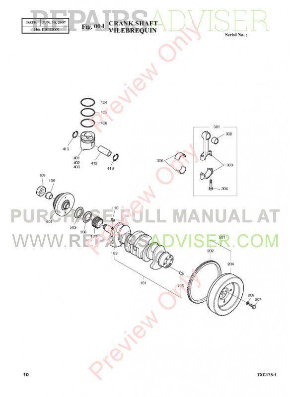Terex TXС 175LC-1 Hydraulic Excavator Parts Manual PDF