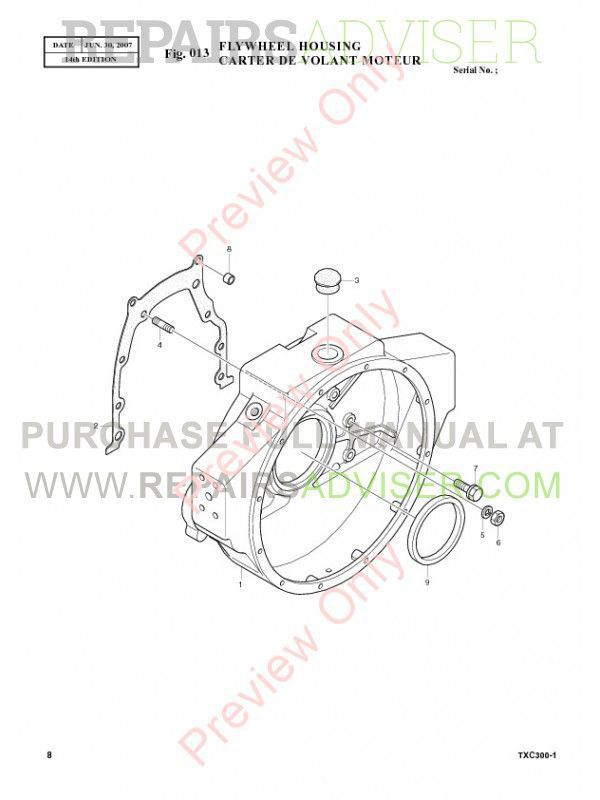 Terex TXC 300LC-1 Hydraulic Excavator Parts Manual PDF