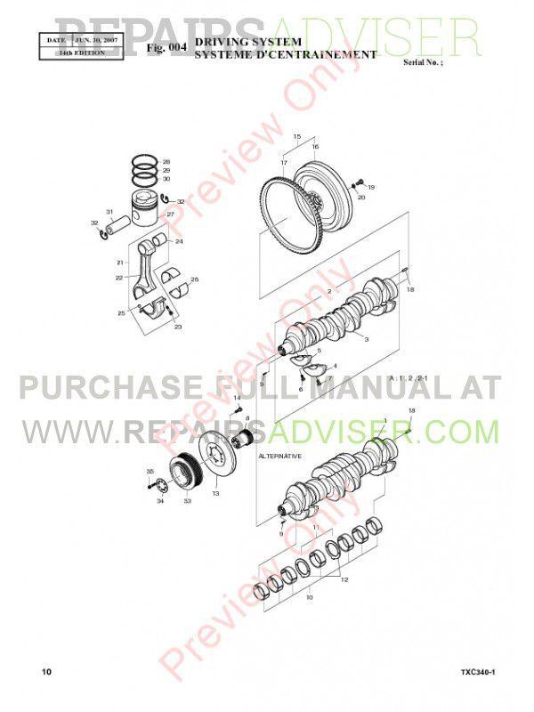 Terex TXC 340LC-1 Hydraulic Excavator Parts Manual PDF