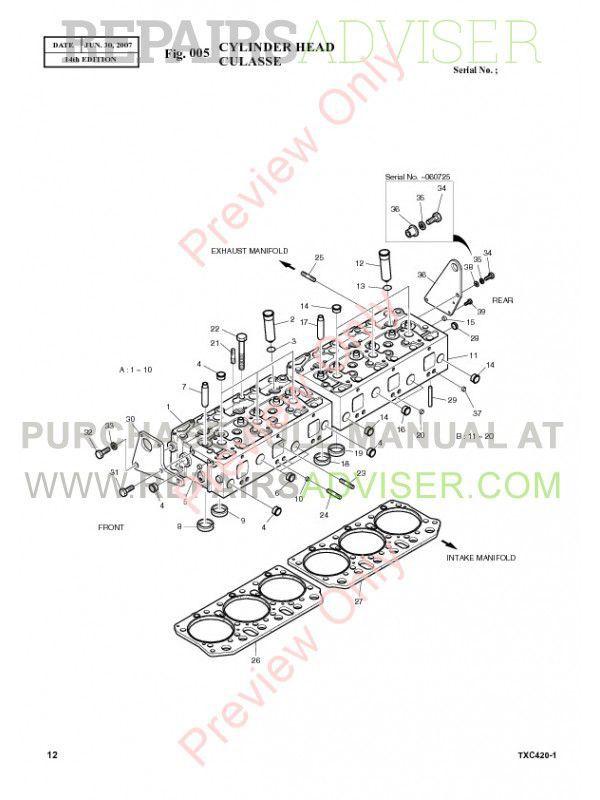 Terex TXC 420LC-1 Hydraulic Excavator Parts Manual PDF