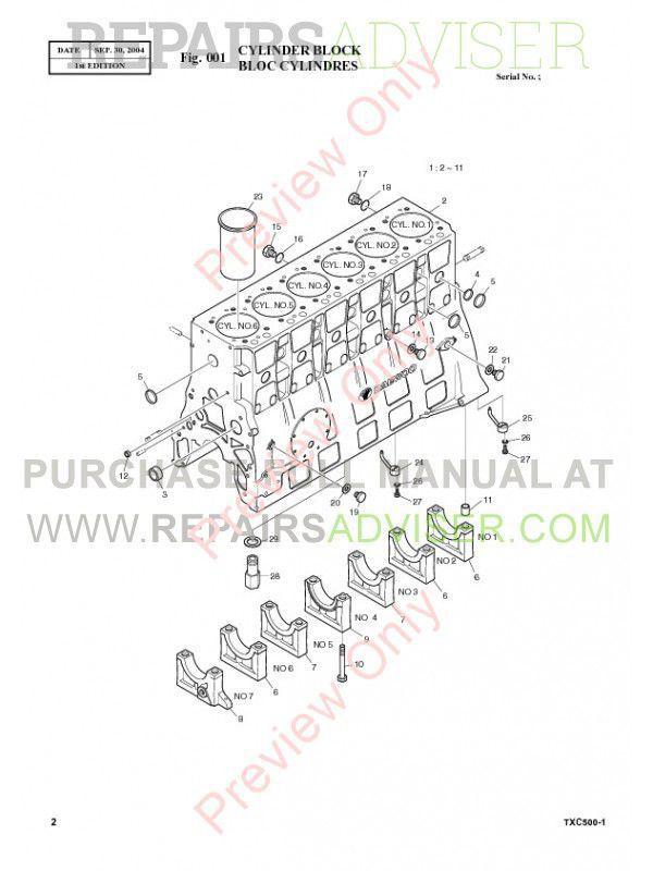 Terex TXC 500-1 Hydraulic Excavator Parts Manual PDF Download