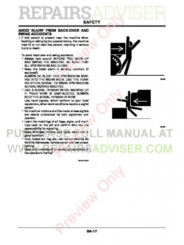 Hitachi ZX85USBLC-3 Hydraulic Excavator Workshop Manual