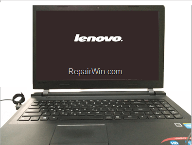FIX: Lenovo laptop is stuck at LOGO screen.