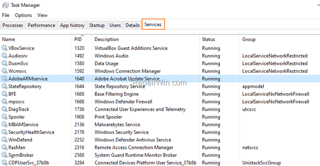 Force Stop Service PowerShell