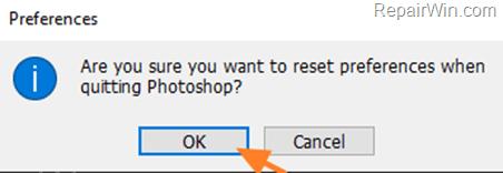Reset Photoshop Settings on Quit