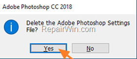 delete photoshop settings