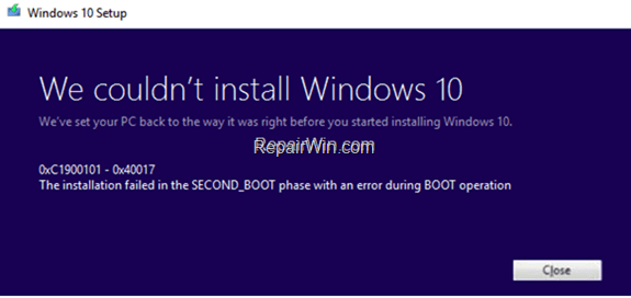 FIX Error 0x800711C7 - 0x2000A installation failed in the SAFE_OS phase during PREPARE_FIRST_BOOT