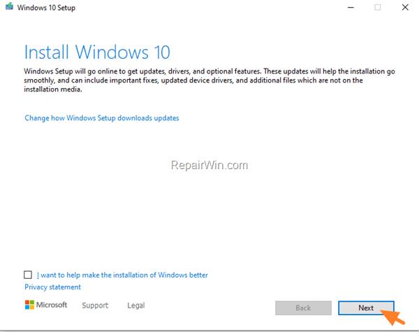 FIX Error 0x8007025D-0x2000C Windows 10 Update