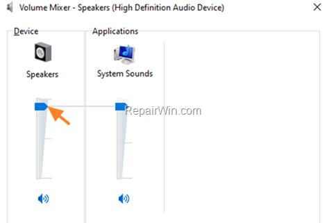 Adjust Sound Volume