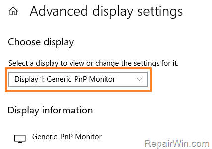 FIX Generic PNP Monitor on Windows 10