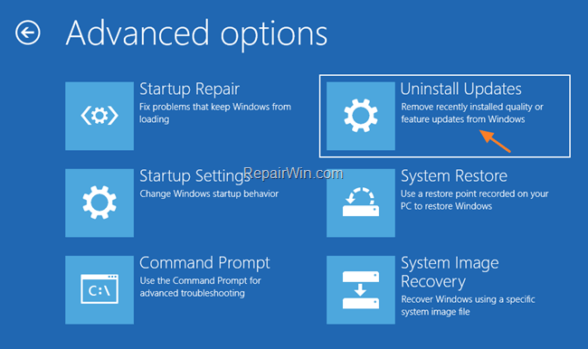 Windows 10 Repair Options