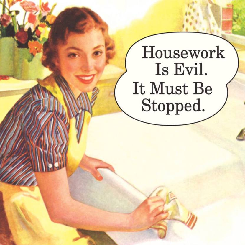 Housework quotes, cleaning is evil