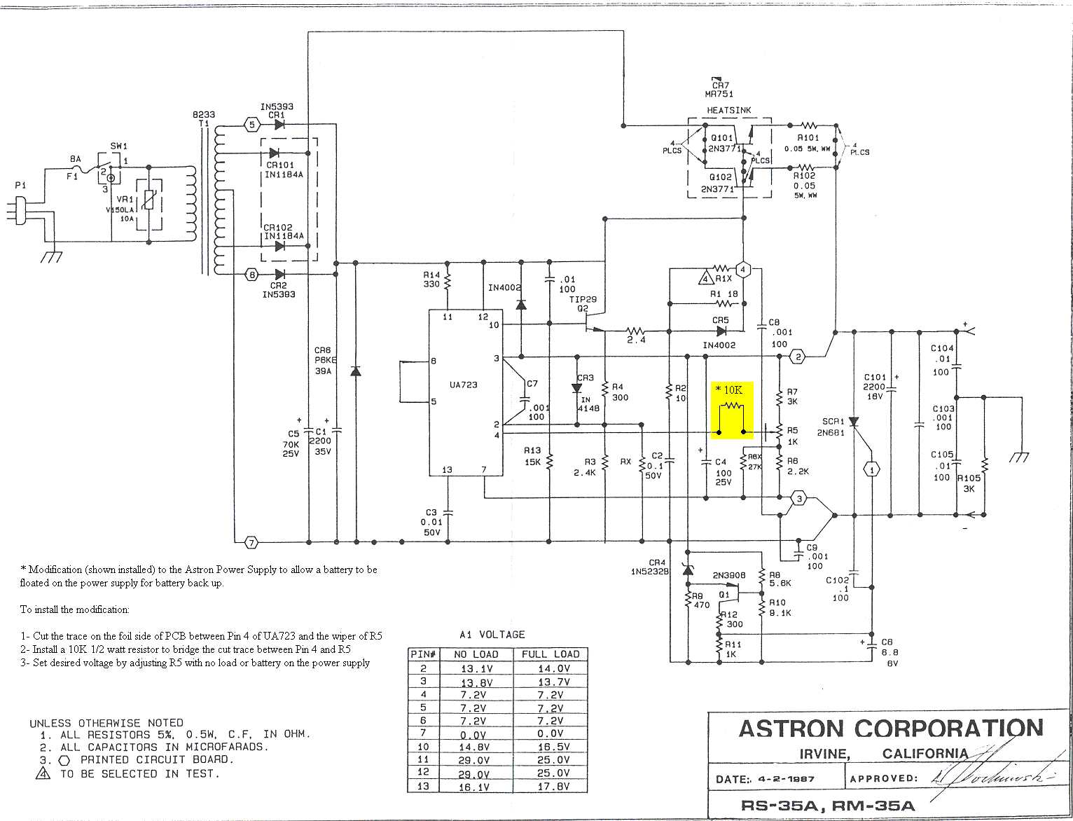 Astron Power Supply Index Page