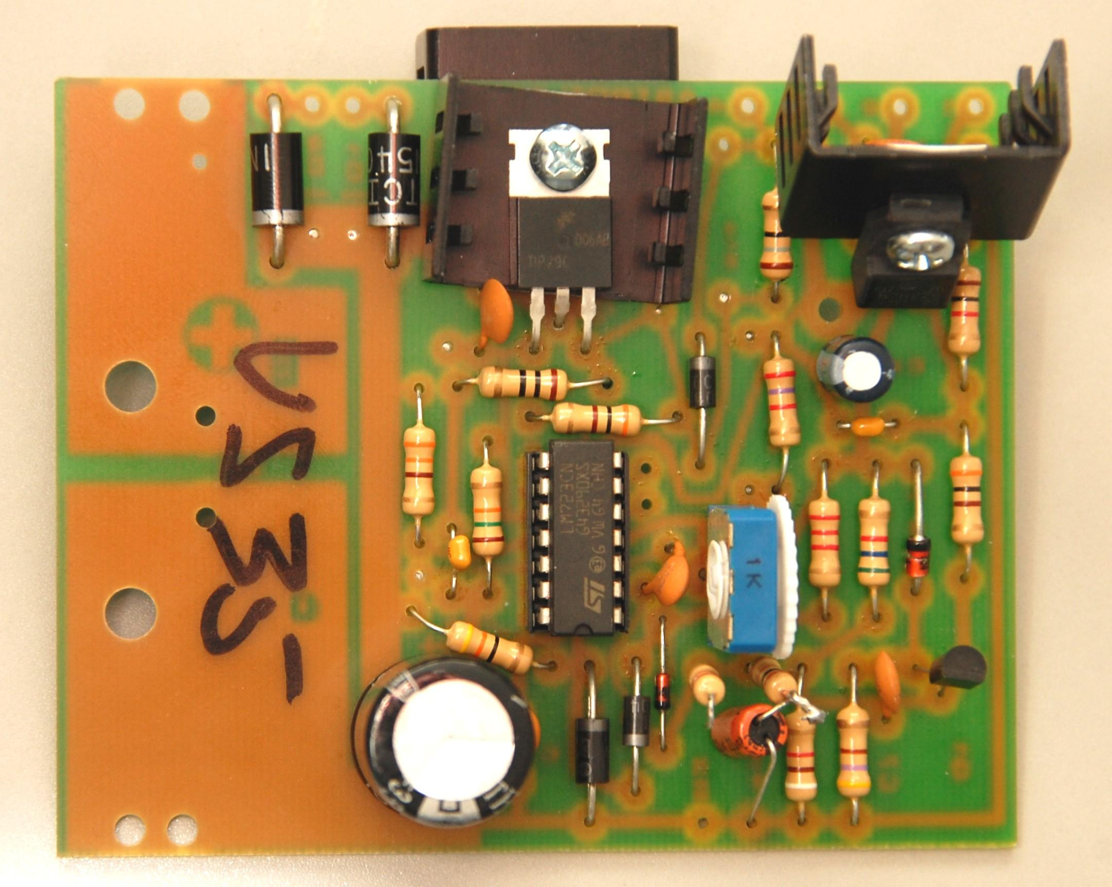 Labeled Circuit Board
