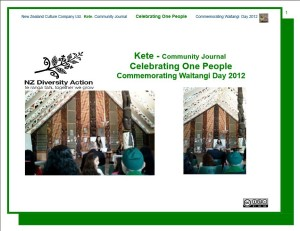 Celebrating one community kete 2012 Mauri