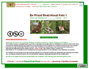 Log on to read aloud kete 1 template