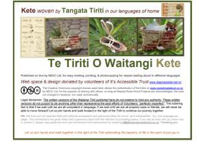 Te Tiriti O Waitangi Kete 29 October 2019 tangata tirit kete