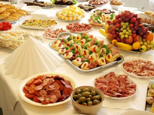 Table full of Antipasti Italian Style