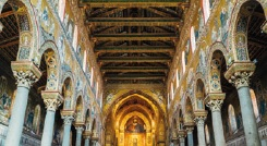 Inside the Monreale Cathedral