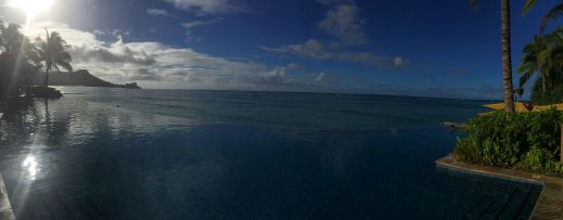 The view from our pool!!  Pictures don't do it justice!  Beautiful turtles swimming in the ocean!  Amazing SUNSHINE!