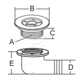Stainless Steel Scupper Deck Drain