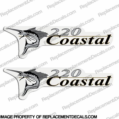 Wellcraft Coastal 220 Logo Boat Decals (Set of 2)