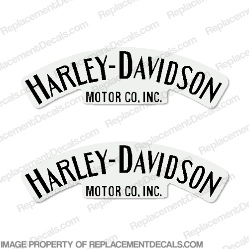 Harley-Davidson Fuel Tank Decals Single Color (Set of 2