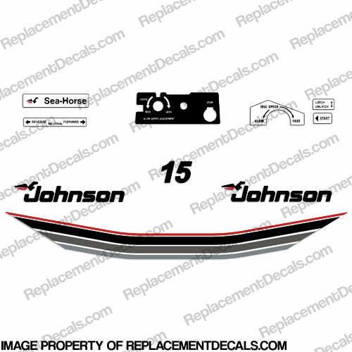 Johnson 1985 15hp Decals