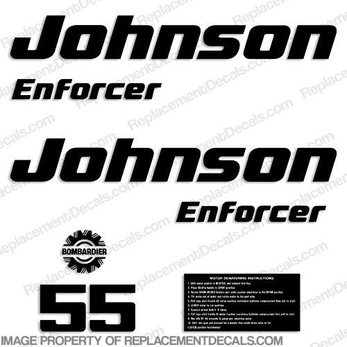 Johnson/Evinrude Enforcer 55hp Decals