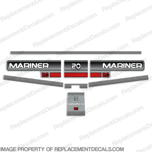 Mariner 1996 20hp Decal Kit