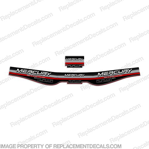 Mercury 225hp EFI Nitro Series Decal Kit 2001+