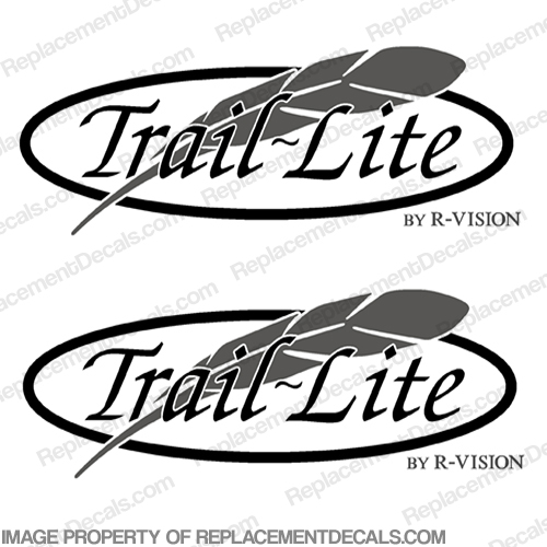Trail Lite by R-Vision RV Decals (Set of 2)