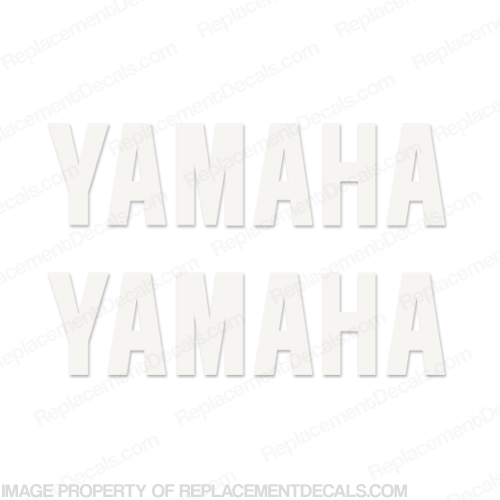 Yamaha Decals (set of 2) White