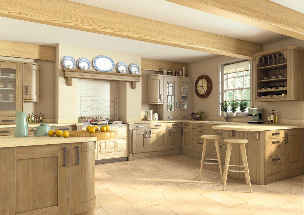 Pronto Wilton Odessa Oak Kitchen
