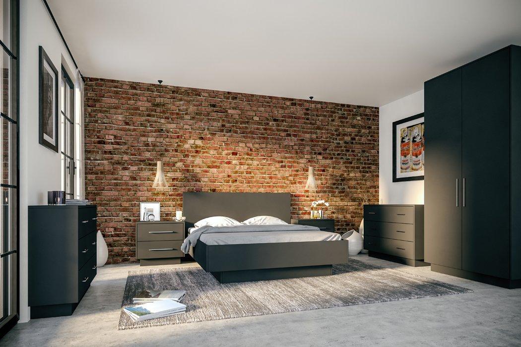 Zurfiz Supermatt Graphite Bedroom