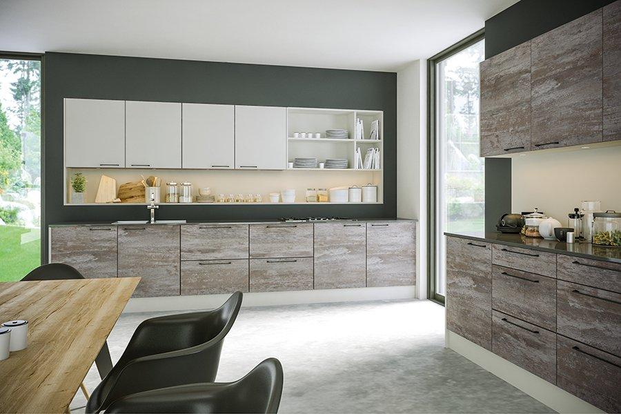 Valore Driftwood Light Grey Supermatt Light Grey Kitchen